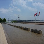 Flooded St Louis Waterfront