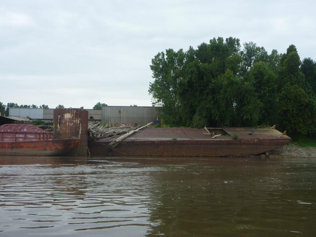 Barge Run Aground